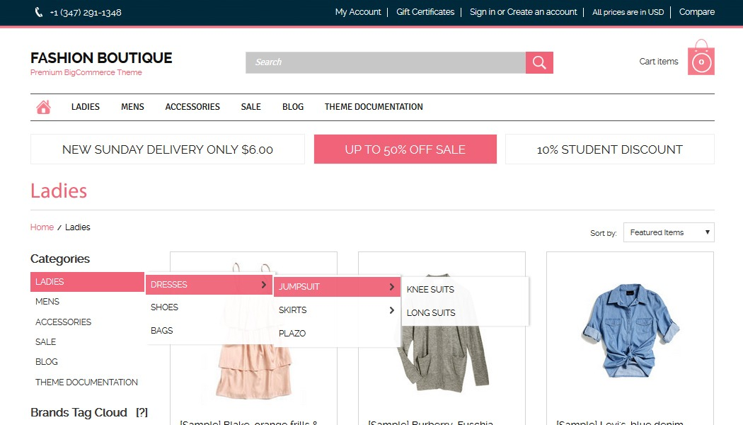 Category page, premium bigcommerce templates